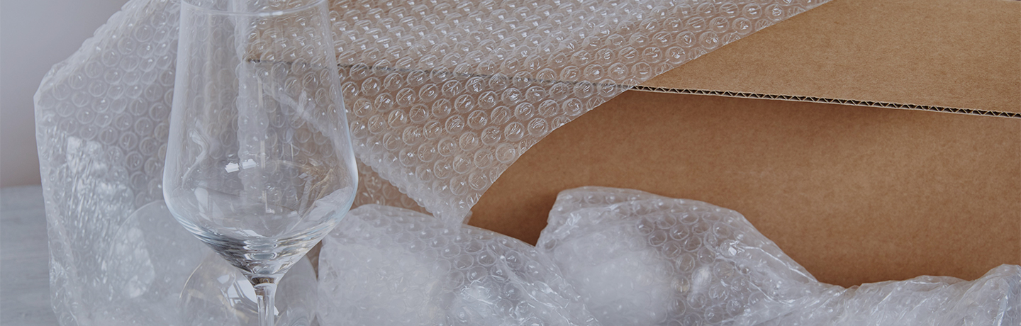 Bubble wrap packaging provides superior, longer lasting packing protection
